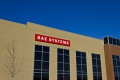 Ft Wayne IN - Circa December 2015: BAE Systems Manufacturing Facility Royaltyfri Bild