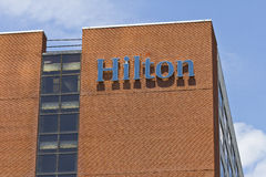 Ft. Wayne, IN - Circa July 2016: Downtown Hilton Hotel Location. Hilton is a global brand of full-service hotels I Royalty Free Stock Photography