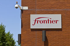 Ft. Wayne, IN - Circa July 2016: Frontier Communications Signage on the Downtown Central Office III Royalty Free Stock Photos