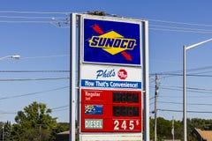 Ft Wayne - Circa September 2016: Sunoco är ett dotterbolag av dropp för partners för energiöverföring Royaltyfri Foto