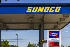 Ft. Wayne - Circa September 2016: Sunoco Retail Gasoline Location. Sunoco is a Subsidiary of Energy Transfer Partners II Royalty Free Stock Images