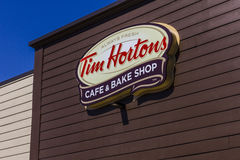 Ft. Wayne - Circa September 2016: Tim Hortons Cafe & Bake Shop. This is the US version of the popular Canadian Restaurant I Stock Images