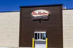 Ft. Wayne - Circa September 2016: Tim Hortons Cafe & Bake Shop. This is the US version of the popular Canadian Restaurant II Stock Image
