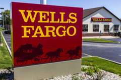 Ft. Wayne - Circa September 2016: Wells Fargo Retail Bank Branch. Wells Fargo is a Provider of Financial Services X Royalty Free Stock Image