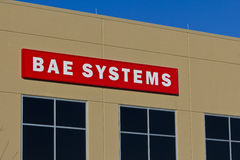 Ft Wayne, DENTRO - cerca do dezembro de 2015: BAE Systems Manufacturing Facility fotos de stock royalty free
