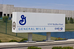 Ft Wayne, DENTRO - cerca do julho de 2016: General Mills Distribution Center Operated por Exel, Inc Mim Foto de Stock