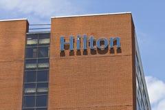 Ft Wayne, DENTRO - cerca do julho de 2016: Hilton Hotel Location do centro Hilton é um tipo global de hotéis do serviço completo  Fotografia de Stock Royalty Free