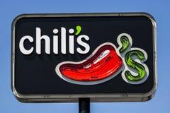 Ft Wayne - Około Sierpień 2017: Chili ` s grill & Prętowa Przypadkowa Łomota restauracja Chili ` s zna dla swój dziecko plecy zio Obrazy Royalty Free