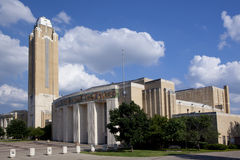 Ft Worth Landmark. The Will Rogers Memorial Center is a multi-purpose entertainment complex under 45 acres of roof, spread over 85 acres in the heart of the Fort stock photo