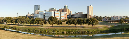 Ft Worth, Texas (Panoramic) Stock Photography