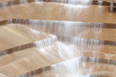 Ft Worth Water Gardens. Long exposure for motioon blur effect on water Royalty Free Stock Photo