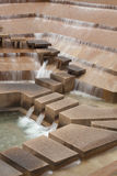 Ft Worth Water Gardens. Long exposure for motioon blur effect on water Royalty Free Stock Photography