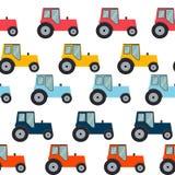 Ftat Tractor Seamless Pattern Background Vector Illustration Stock Photo