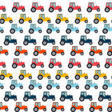 Ftat Tractor Seamless Pattern Background Vector Illustration Stock Photo