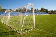Fútbol neto de la meta del fútbol Fotos de archivo libres de regalías