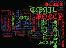 Ftc Names Dirty Dozen Email Scams Text Background Word Cloud Concept Stock Images