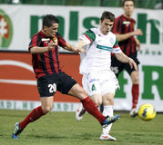 FTC vs. Budapest-Honved Hungarian OTP BANK League Royalty Free Stock Images