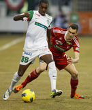 FTC vs. DVSC-TEVA Hungarian football game Royalty Free Stock Photography