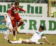 FTC vs. DVSC-TEVA Hungarian football game Royalty Free Stock Image