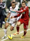 FTC vs. DVSC-TEVA Hungarian football game Royalty Free Stock Images