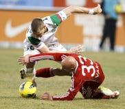 FTC vs. DVSC-TEVA Hungarian football game Stock Photo