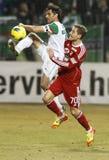 FTC vs. DVSC-TEVA Hungarian football game Stock Images