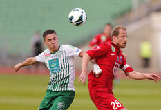 FTC vs. Videoton OTP Bank League football match Royalty Free Stock Images