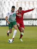 FTC vs. Videoton OTP Bank League football match Stock Images