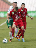 FTC vs. Videoton OTP Bank League football match Stock Photography