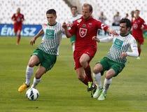 FTC vs. Videoton OTP Bank League football match Stock Photography