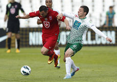 FTC vs. Videoton OTP Bank League football match Royalty Free Stock Photos