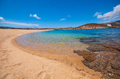 Ftelia beach in Mykonos Stock Photo