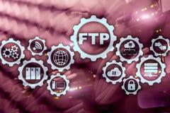 ftp FTP Данные по передачи сети к серверу на предпосылке суперкомпьютера стоковое фото rf