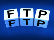 FTP Blocks Refer to File Transfer Protocol Stock Image