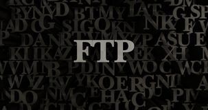 FTP - 3D rendered metallic typeset headline illustration Royalty Free Stock Images