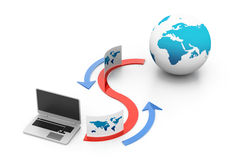 Ftp data sharing concept. 3d ftp data sharing concept Stock Photo