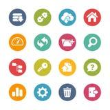 Ftp e ícones do acolhimento -- Série fresca das cores Fotografia de Stock Royalty Free