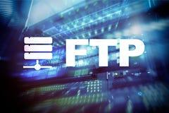 Ftp - File Transfer Protocol Concetto di tecnologia della comunicazione e di Internet illustrazione vettoriale