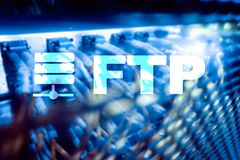 FTP - File transfer protocol. Internet and communication technology concept.  royalty free stock photos
