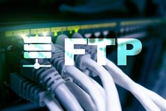 FTP - File transfer protocol. Internet and communication technology concept.  stock photos