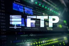FTP - File transfer protocol. Internet and communication technology concept.  stock images