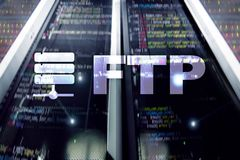 FTP - File transfer protocol. Internet and communication technology concept.  royalty free stock photo