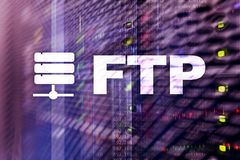 FTP - File transfer protocol. Internet and communication technology concept.  royalty free stock image