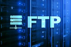 FTP - File transfer protocol. Internet and communication technology concept. FTP - File transfer protocol. Internet and communication technology concept royalty free stock photo