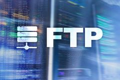 FTP - File transfer protocol. Internet and communication technology concept. FTP - File transfer protocol. Internet and communication technology concept royalty free stock photos