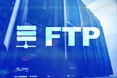 FTP - File transfer protocol. Internet and communication technology concept. FTP - File transfer protocol. Internet and communication technology concept stock images