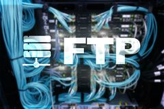 FTP - File transfer protocol. Internet and communication technology concept.  royalty free stock images