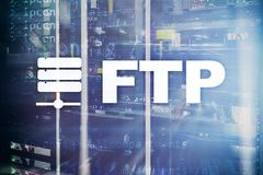 FTP - File transfer protocol. Internet and communication technology concept.  stock image