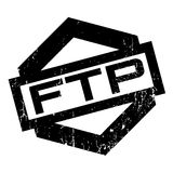 Ftp File Transfer Protocol rubber stamp. Grunge design with dust scratches. Effects can be easily removed for a clean, crisp look. Color is easily changed Royalty Free Stock Image