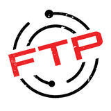 Ftp File Transfer Protocol rubber stamp. Grunge design with dust scratches. Effects can be easily removed for a clean, crisp look. Color is easily changed Stock Images
